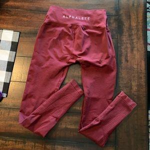 Alphalete Revival Leggings - Garnet Red